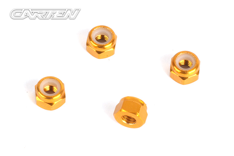 NBA351 M3 Nylon Lock Nut(4pcs)